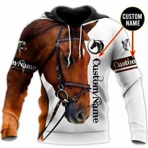 Horse Custom Name 3D Hoodie All Over Printed S-5XL Fathers Day, Mothers Day Gift