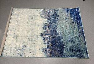 Alayna Abstract Blue Rug by nuLOOM 120 x 180 CM NEW