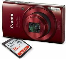Canon Power Shot ELPH 190 IS Digital Camera (Red) with 10x Optical Zoom kit…