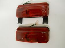 RV Camper Trailer Stop Turn Brake Tail Lights / License Light / Black Base /Pair