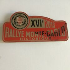 Car Badge- Rallye Monte Carlo Historique 2013 car grill badge emblem logos metal