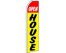 Open House Red / Yellow / Black Swooper Super Feather Advertising Flag