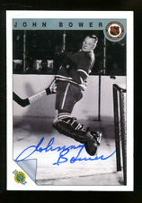 John Bower Signed 1992 Fleer Card Autographed Maple Leafs 22692
