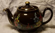 ALB - Alcock, Lindley & Bloore - Teapot - Floral Design with Gold Trim Finish