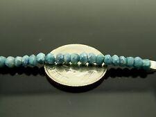 Genuine Blue Celestite Celestine Faceted Rondelle Angelic Gemstone 20 Beads
