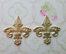 Raw Brass Fleur De Lis Stamping (2) - RAT2236