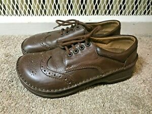 Birkenstock Leather Wingtips Shoes SZ 37 or US 6 Brown Leather Lace up Shoes