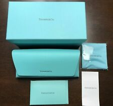 Brand NewTiffany & Co. Eyeglass Sunglass Case With Cloth And Soft Pouch in Box