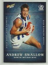 2013 AFL CHAMPIONS BF12 Andrew Swallow North Melbourne Best and Fairest CARD