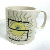 ANTHROPOLOGIE Sun S Mug Alphabet Monogram Whimsical Florence Balducci Coffee Tea