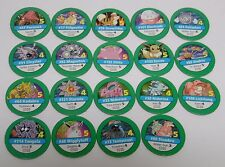1999 Nintendo Pokemon Master Trainer Board Game REPLACEMENT PART 19 GREEN CHIPS