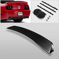For 05-09 Ford Mustang GT500 Duck Tail Style Gross Black Rear Trunk Spoiler Wing