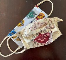 Reversible Harry Potter Marauders Map and Hogwarts White Comfortable Face Mask
