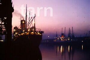 35mm slide Cruise ship Braemar Castle London night 1960s r151