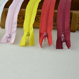 10X ASSORTED DRESS UPHOLSTERY CRAFT NYLON METAL CLOSED OPEN ENDED ZIPS BRAND --