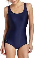 Speedo Womens Swimwear Blue Size 14 Long PowerFlex Ultraback Swimsuit $68 171