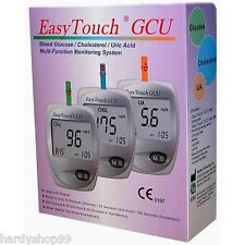 EasyTouch 3 in 1  For Glucose, Cholesterol, Uric Acid Meter Monitoring System