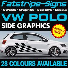 VW POLO GRAPHICS STICKERS STRIPES DECALS VOLKSWAGEN V DUB GTI 1.4 1.6 GT TURBO