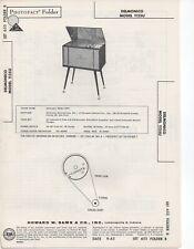 1963 DELMONICO 1125U RADIO AMPLIFIER SERVICE MANUAL PHOTOFACT SCHEMATIC DIAGRAM