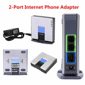 Unlocked for Linksys PAP2T VoIP Phone Adapter 2 Phone Port Gateway SIP V2 RJ45