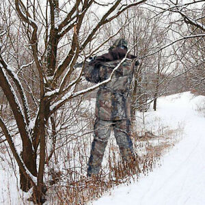 Men's  Thick Warm Camouflage Jacket&Pants Hunting Cloth Ghillie Suit for Winter