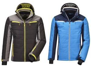 Men's KILLTEC Savognin Insulated Ski Jacket Coat w/ Zip-Off Hood & Snowcatcher