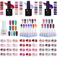 12Pcs/Set Soak Off UV LED Gel Polish  Color Glitter Thermal Nail Gel Varnish