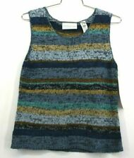 New First Issue Liz Claiborne Sleeveless Sweater $34 Retail Womens Cotton Sz XL