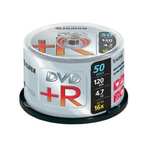 Fujifilm DVD+R Blank DVDs - 4.7GB - Upto 16x Speed - 50 Discs - Spindle