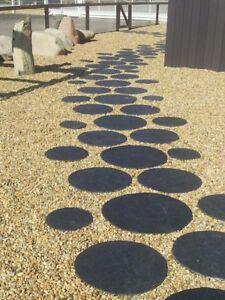 Runde japanische Trittplatten aus Schiefer Groß Durchmesser 50 cm