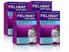 Feliway 48mL Diffuser Refill 4 Pack - Constant Calming and Comfort for Cats
