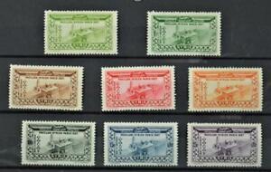 SYRIA STAMPS 1937 SET OF 8  H/M  (K5)