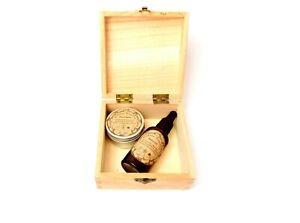 Double Sunnah Organic Fragranced Beard Cream & Oil 50ml + Free Handmade Gift Box