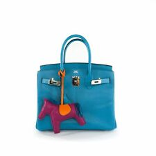 Hermes Birkin 30 Turquoise in Fjord Leather PHW