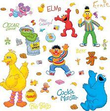 SESAME STREET 45 BiG Wall Stickers ELMO BIG BIRD ABBY OSCAR Room Decor Decals