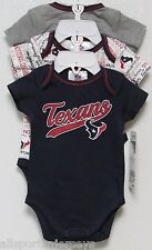 NFL NWT INFANT ONESIE-SET OF 3- HOUSTON TEXANS 18 MONTHS