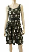 PRADA Sleeveless Scoop Neck Gingham Check Cotton Dress 38 US 2
