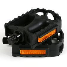 Fahrrad Pedalen Universal mit Reflektoren/ Kunststoff Schwarz