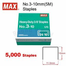 """MAX NO.3-10mm(3/8"""") Staples(24/10) 5000's for HD-3D Stapler, staple up to 70page"""