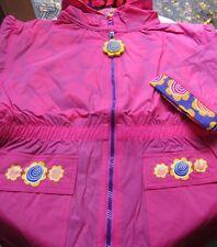 FISHER PRICE little people RAINCOAT rain coat pink fushia totes size M 5 - 6 M