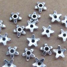 100pc Retro Tibetan Silver Flower Bead Caps End beads Jewellery Making S748S
