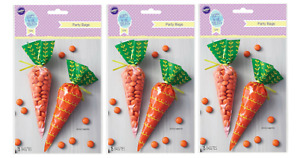 Total 45ct Wilton Cello CARROT Shaped Party Treat Favor Bags 15Ct x3 Easter