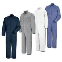 NEW Red Kap Men's Button Front Cotton Work Coveralls - 4 colors - CC16 Uniform