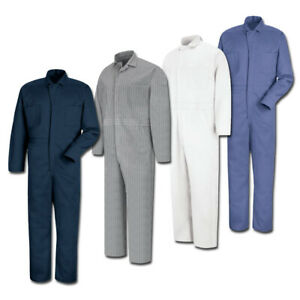 NEW Red Kap Men's Button Front Cotton Work Coveralls - 4 colors - CC16 Uniform