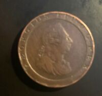 """1797 COPPER GREAT BRITAIN 2 PENCE GEORGE III """"CART WHEEL"""" COIN GOOD CONDITION"""