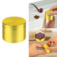 Tobacco Herb Spice Grinder 4 Piece Herbal Alloy Smoke Zinc Alloy Metal Crusher