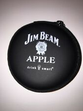 Jim Beam Apple Ear Buds - headphones - In A Zip Around Case- NEW