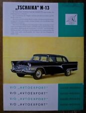 GAZ CHAIKA M-13 orig 1960s Sales Brochure Prospektblatt in German - Tschaika