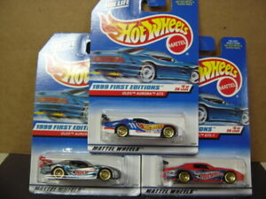 HOT WHEELS  LOT OF 3  1999 FIRST EDITIONS  OLDS AURORA GTS  #5 OF 26 COLOR VAR