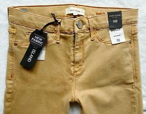River Island Jeans Size 8 R super skinny Molly camel beige NEW 26/30 caramel